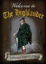 El signo Highlander tradicionales británicas pub: Estilo Vintage casa letrero de metal