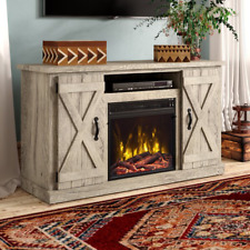 "Lorraine TV Stand for TVs up to 55"" with Electric Fireplace Included"