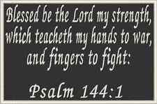 PSALM 144:1  Christian Military Patch With VELCRO® Brand Fastener Emblem