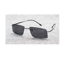 Sunglasses Men The Matrix Morpheus Style Round Rimsless Memory Frame Polarized