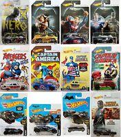 HOT WHEELS Marvel & DC Comics SUPERHERO - TV MOVIES & CARTOON Diecast Model Cars