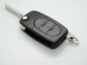 1 x Auto Schlüssel Funkschlüssel Gehäuse 3 Tasten Ersatz für VW Skoda Seat