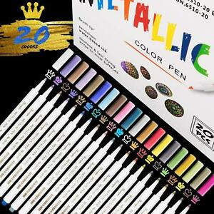 Guiffly Steine Bemalen Acrylstifte Wasserfester f/ür DIY Fotoalben Papier Holz Leinwand-0.7mm 12 Farbige Acrylstifte Marker Stifte