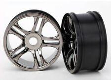 Traxxas 6476 Wheels Black Chrome Rear XO-1 (2)