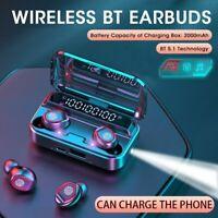 Wireless Earphone Bluetooth 5.0 Headset TWS Mini Earbuds 9D Stereo Headphone Mic