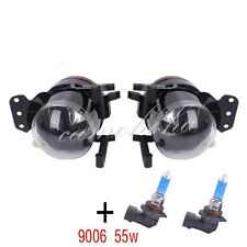 Pair Front Fog Lights Lamps Housing Clear For BMW E60 E61 E63 E46 X3 With Bulb