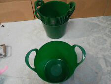 Joblot 10x flexible tub poultry feed animal water buckets Charity Sale FAST POST