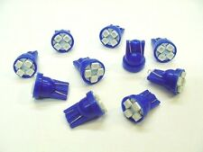 10 Blue Buick SUPER BRIGHT 12V LED 194 Wedge Instrument Panel Light Bulbs NOS