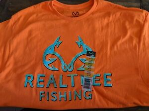 Realtree Fishing T-shirt (XL) (Hunter Orange)