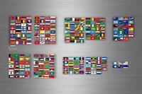 252x Aufkleber flagge fahne verschiedene welt staaten del erde r2 scrapbooking