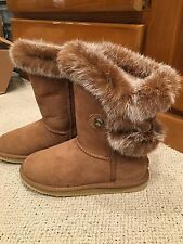 Australia Luxe Collective Nordic Angel/ Chestnut Brown Rabbit Fur NIB Youth 5