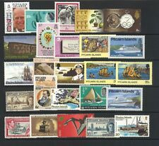 Pitcairn Islands 25 All Different Stamps in Glassine Bag Mostly Mint