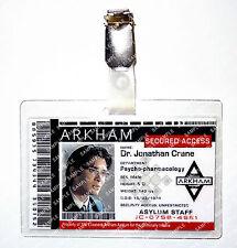 Batman Arkham Asylum Jonathan Crane ID Badge Scarecrow Cosplay Costume Comic Con