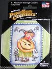 Authentic PaperKraft Drink Coasters Halloween JACK O' LANTERN WITCH *BOGO 50%OFF