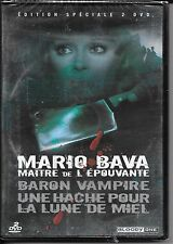 2 DVD / 2 FILMS--BARON VAMPIRE & UNE HACHE POUR LA LUNE DE MIEL--MARIO BAVA-NEUF
