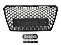Für Audi A7 4G C7 RS7 Look Wabengrill Kühlergrill + Emblem Halter Diffusor 11-14