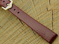 NOS Hirsch Dakota Brown Leather Watch Band w Gold Tone Buckle 12mm Unused Ladies
