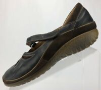 Naot Mary Jane Shoes - Black Leather Comfort Walking Women's Size 40 US 9/9.5