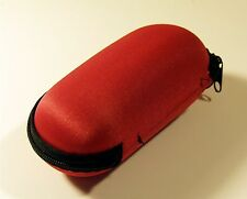 """RED STORAGE CASE FOR SMOKING PIPE 6"""" Long, ZIPPERED with FOAM Cushion INSIDE"""