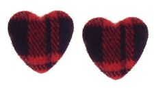 Ohrclips Clips Herz rot schwarz textil British Chic Ohrringe by Ella Jonte heart