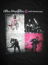 """THREE DAYS GRACE """"LIFE STARTS NOW"""" Concert Tour (MED) T-Shirt"""