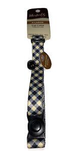 31 X Wholesale Job Lot Breakaway Blue Yellow Design Large Cat Collar With Bell