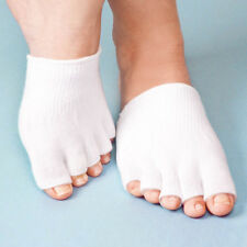 Gel Toe Socks Separate Straighten Cushion Toes Sock Comfy Protect Feet White UK