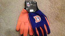 Denver Broncos Utility Gloves NFL Team Throwback Logo
