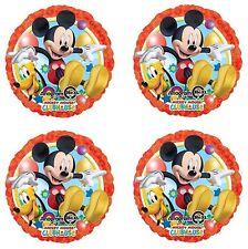 "4x Disney Mickey Mouse & Pluto  Birthday Party 18"" inch Foil Mylar Balloon"