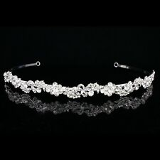 Floral Bridal Headpiece Rhinestone Crystal Prom Wedding Tiara Headband V884