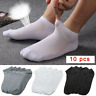 5 Pairs Men Ankle Socks Summer Low Cut Crew Casual Sport Cotton Blend Socks Gift