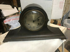 """Vintage NEW HAVEN USA Mantle Clock, 9 1/4"""" tall, 18"""" x 5"""" base"""
