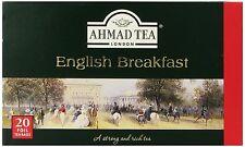 New ! 20 Foil Tea bags Ahmad Tea English Breakfast  Black Tea