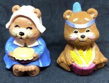 2 - Hallmark Merry Miniatures Thanksgiving Bears