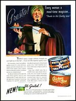 1939 Magician magic hat Chicken of the Sea Tuna vintage art Print Ad adL25