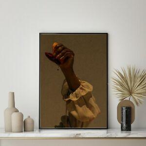 Blood Orange Print , Woman Art Photography , Fashion Wall Art , Fruit Framed Art