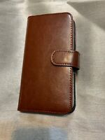 BRG Leather Wallet Case - Samsung Galaxy S8 plus - brown