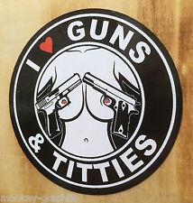 Auto Aufkleber Sticker Titties & Guns Oldschool OEM Sticker Bomb JDM US Car V8