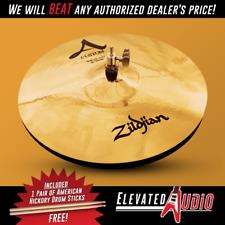 "Zildjian A Custom 14"" Hi Hat Pair + FREE American Hickory Drum Sticks!"