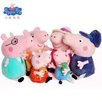 Peppa Pig and Family Members Plush Toy Stuffed Doll Medium 19 cm Size