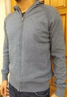 MEN'S NEW M&S HOODED CARDIGAN SIZES M-L-XL-XXL JUMPER SWEATER TOP - RRP £35