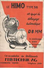 Notice moteur HIMO 56 FTK  cyclomoteur auxilliaire velo