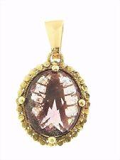 Ciondolo Pendente Donna Oro Giallo 18 Kt CT Carati 750 3,0 Gr Ametista