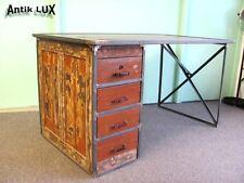 Schreibtisch im Industriedesign, Tisch Werkbank Metall, Werktisch Loft Büro