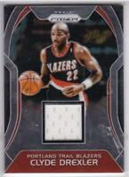 2017-18 Panini Prizm Game Used Jersey #SW-CD Clyde Drexler