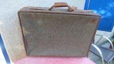 Hartmann suitcase vintage Tweed&Belting leather rolling luggage valise