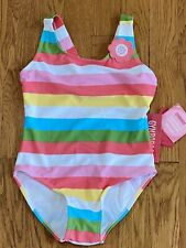Gymboree NWT Girls HAPPY RAINBOW Bathing Swim Suit One Piece Size 6 Twins?