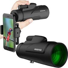 12X50 Monocular Telescope, BUDDYGO Zoom Lens Monoculars Scope for Adults with Sm