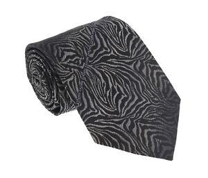 Roberto Cavalli ESZ021 05051 Black Zebra Tie