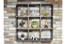 Retro Industrial Wall Unit Shelving Unit Square Shelf 9 Shelves H90cm X W90cm